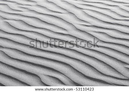 Rippled White Sand Texture - stock photo