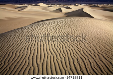 Ripples, Death Valley National Park, California - stock photo