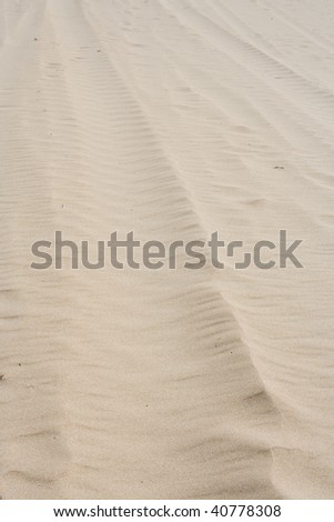 ripples in the sand - stock photo