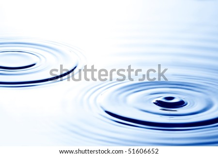 Ripples in water - stock photo