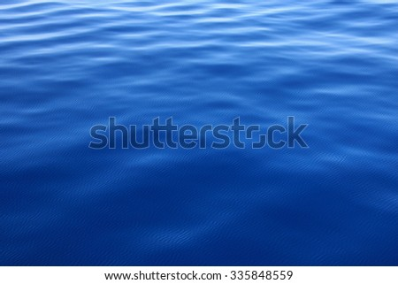 Ripples on a blue water background