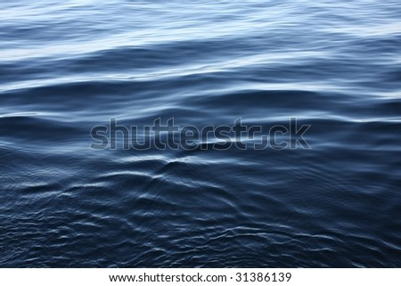 Ripples on deep blue sea