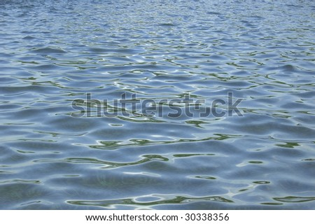 Rippling blue water closeup, nature background
