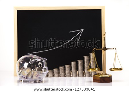 Rising Coins - stock photo