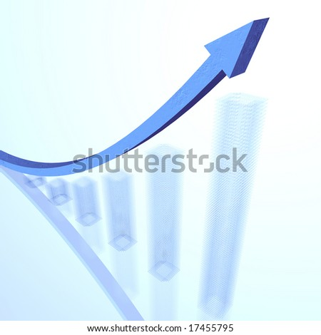 Rising graph 01 - stock photo