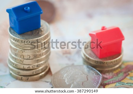 Rising house prices - stock photo