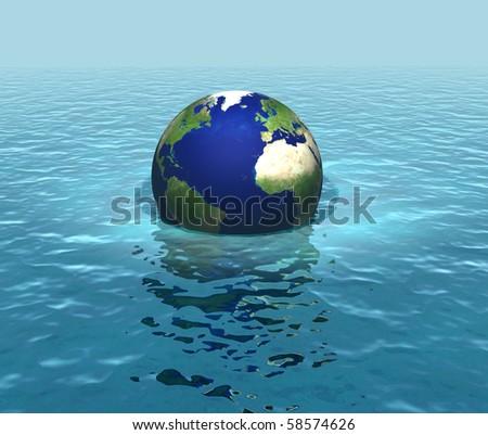 Rising sea levels - stock photo