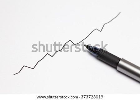 Rising share prices - stock photo
