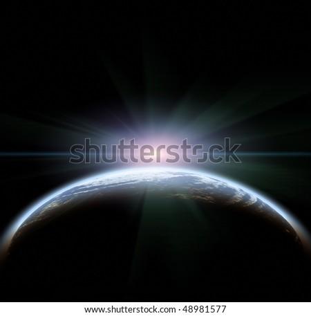 Rising Sun - stock photo