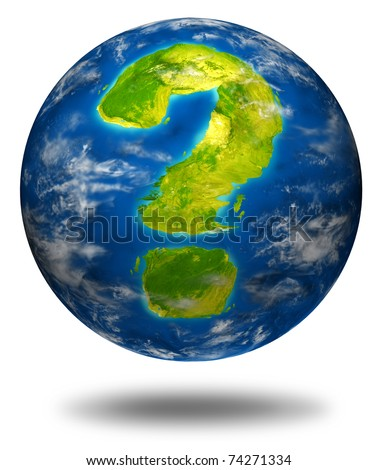 Risk and global uncertainty representing the concept of business and economic health of the planet earth as well as geo political and environmental situation. - stock photo