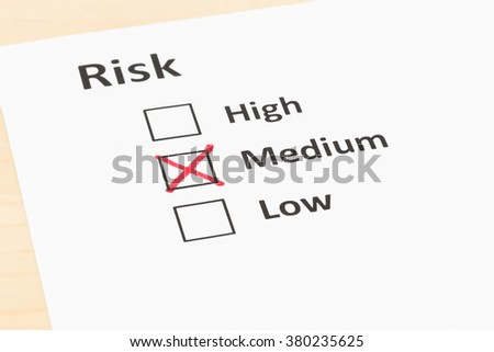 Risk assessment check box