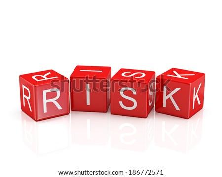 Risk Blocks - stock photo
