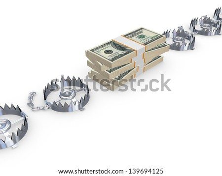 Risk concept.Isolated on white.3d rendered. - stock photo