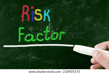 risk factor concept - stock photo