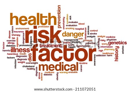 Risk factor concept word cloud background - stock photo