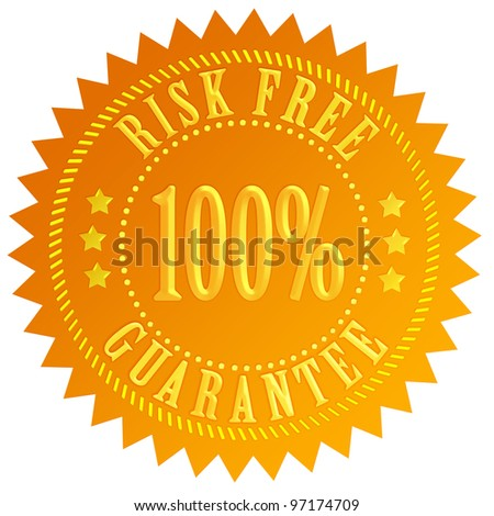 Risk free guarantee icon - stock photo