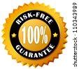 Risk free guarantee label - stock photo