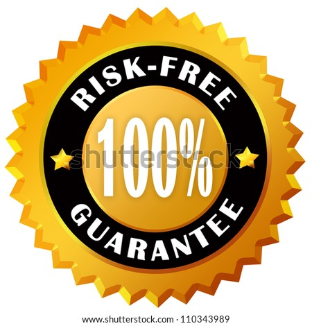 Risk free guarantee label - stock photo