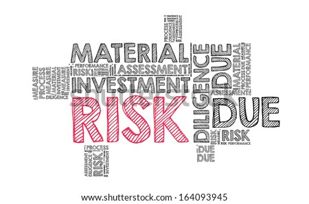 Risk in word cloud - stock photo