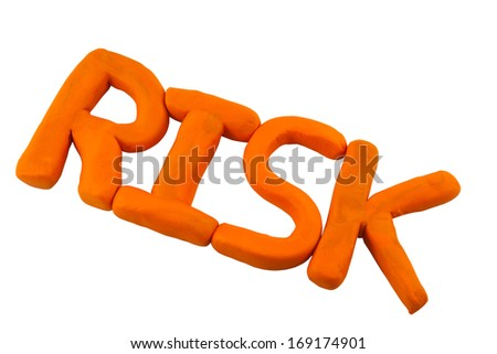 Risk made from clay or plasticine on white