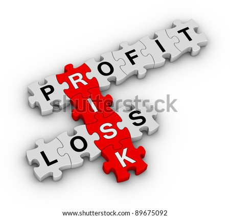 risk management on jigsaw puzzle - stock photo