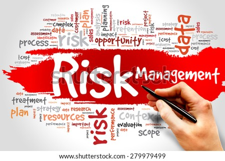 Risk Management word cloud, business concept - stock photo