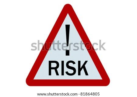 Risk sign illustration on white background - stock photo
