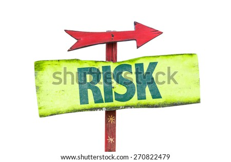 Risk sign isolated on white - stock photo