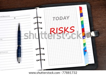 Risks message on today page