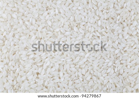 Risotto grains filling frame making food texture or background