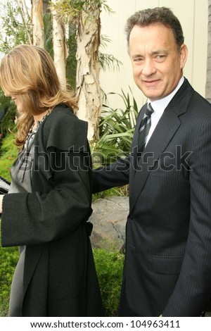 Rita Wilson and Tom Hanks at the ceremony posthumously honoring George Harrison with a star on the Hollywood Walk of Fame. Vine Boulevard, Hollywood, CA. 04-14-09 - stock photo