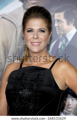 Rita Wilson at the Los Angeles premiere of 'Cloud Atlas' held at the Grauman's Chinese Theatre in Hollywood on October 24, 2012.  - stock photo