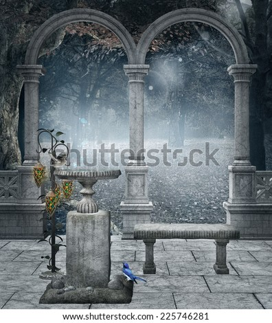Rite of water background - stock photo