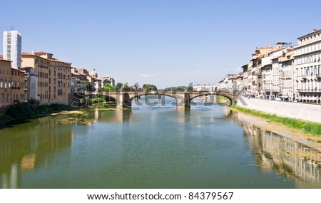 River and bridge in Florence