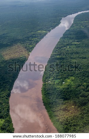 River and nature in Guyana, South America - stock photo