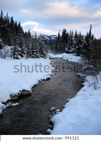 River at Lake Louise