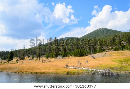 River at Yellowstone National Park - stock photo