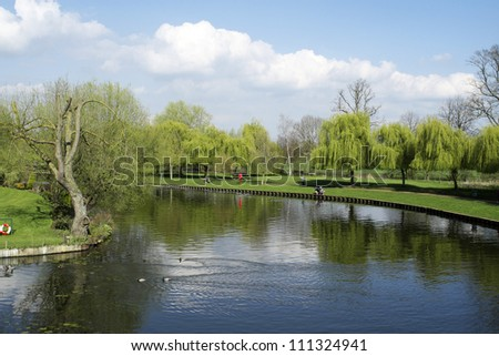 river avon; stratford upon avon; warwickshire - stock photo