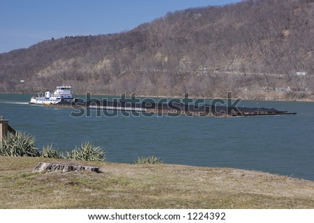 River Barge - stock photo