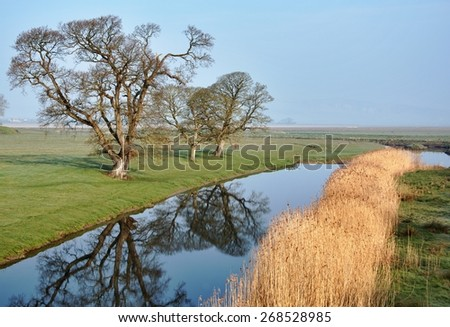 River Bela, near Dallam, milnthorpe. - stock photo