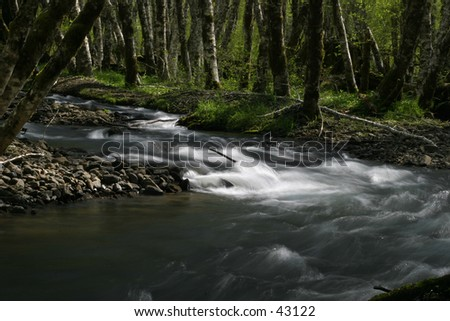 River Bend View - stock photo