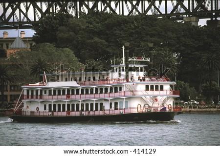 River Boat in Sydney Harbour - stock photo