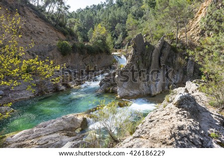 River Borosa Walking Trail in the Sierra Cazorla Mountain Range, Jaen Province, Andalusia, Spain