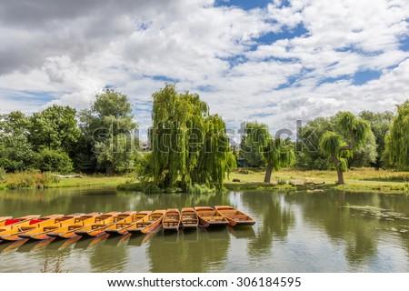 River Cam in Cambridge, England - stock photo