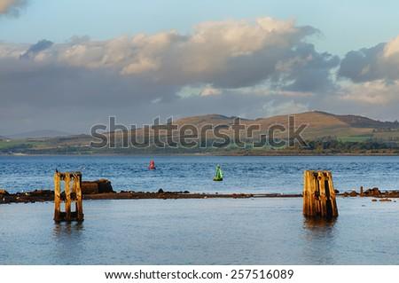 River Clyde at Gourock Scotland - stock photo