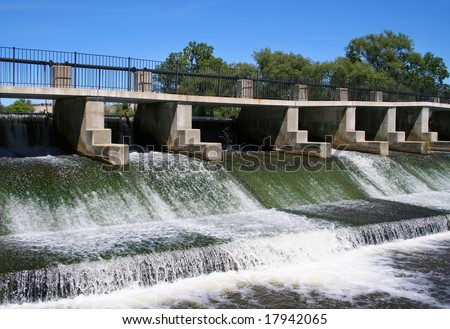 River Dam - stock photo