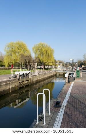 river dock - stock photo