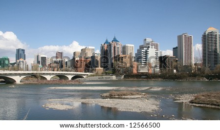 River Downtown - stock photo