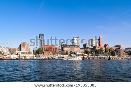 river elbe  in Hamburg, Germany - stock photo