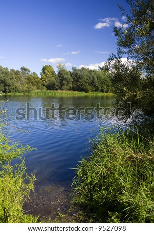 River flow, Croatia, river Drava - stock photo